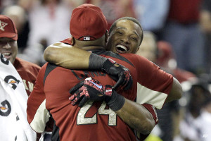 Robinson Cano and Dad hug 2011 Home Run Derby - CoachUp - Jackie Bledsoe, Jr.