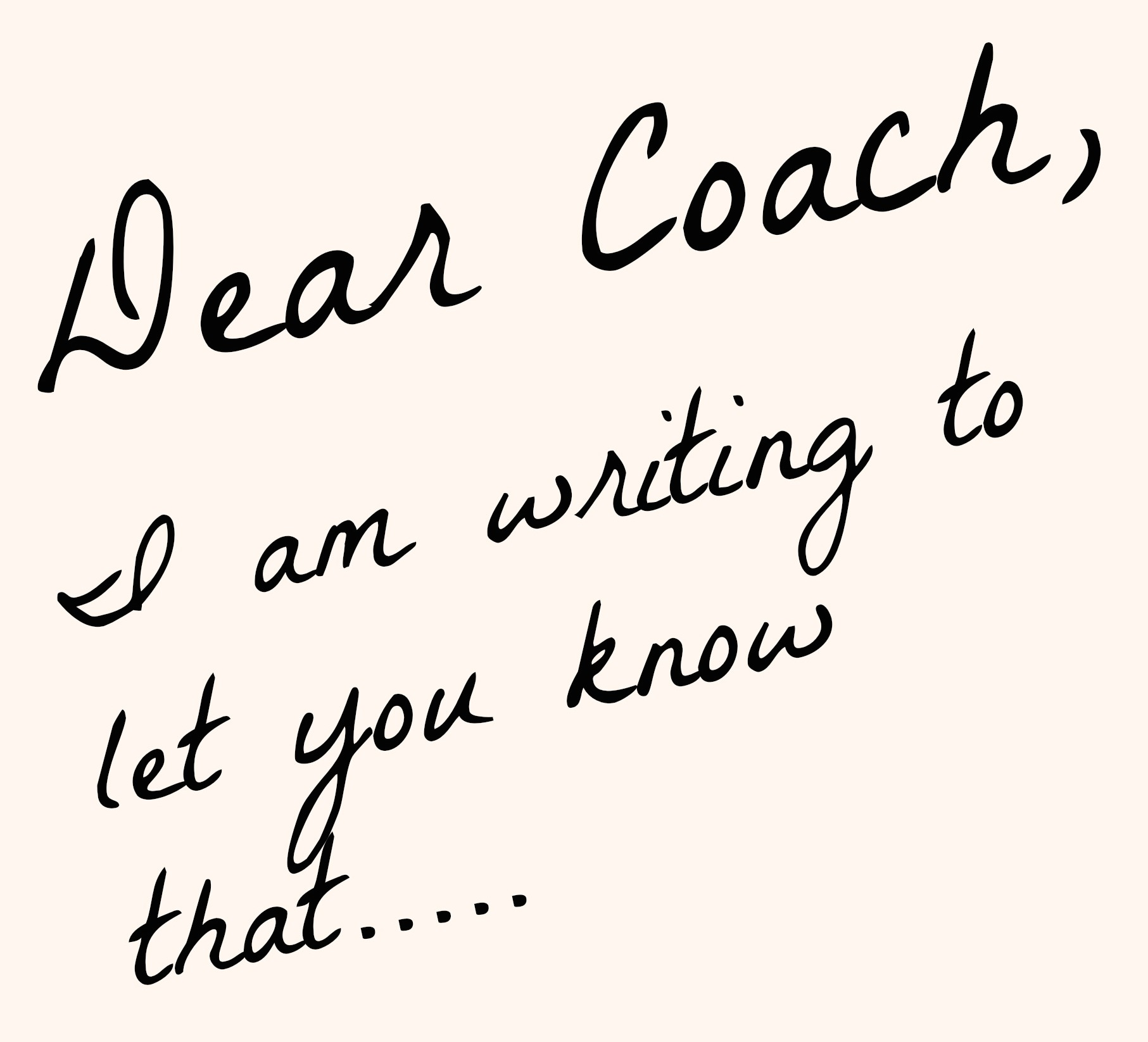 Coachup nation an open letter to coaches from parents what every dear coach expocarfo Choice Image