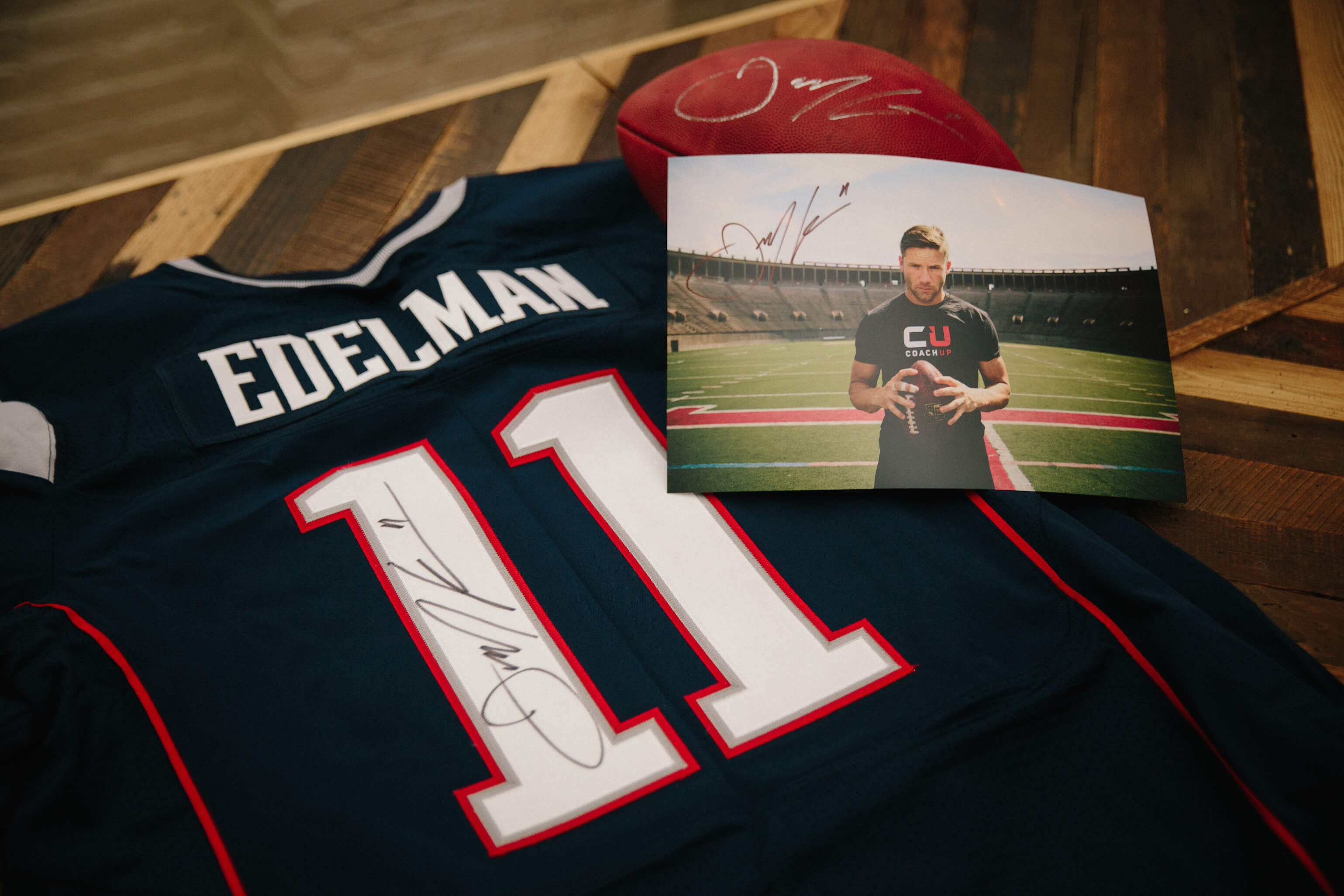 premium selection 1c4c7 df550 CoachUp Nation | The Julian Edelman Signed Swag Sweepstakes